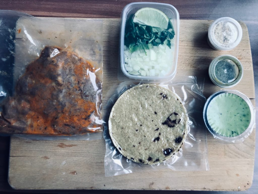 Mexiko Strasse Taquería Taco Kit