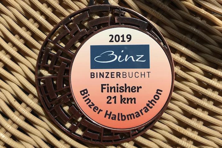 Medaille Binzer Halbmarathon