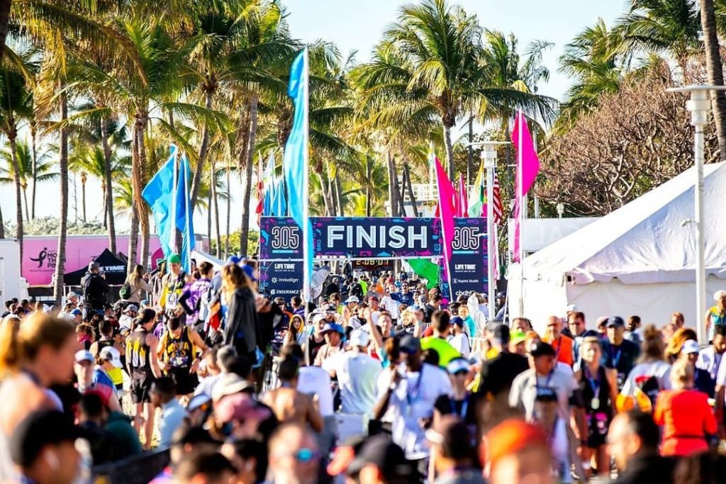 Miami Halbmarathon Finish